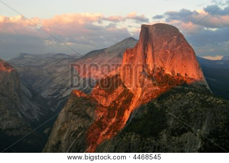 Glowing Glacier Point