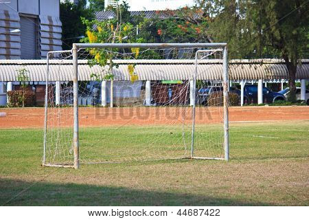 Goal On Soccer Field