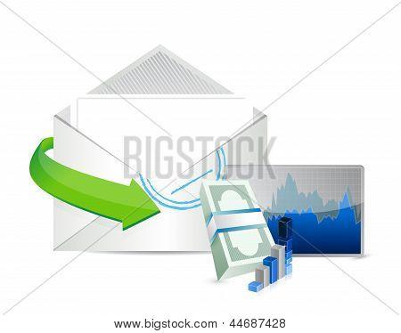 Business Envelope Email Illustration Design