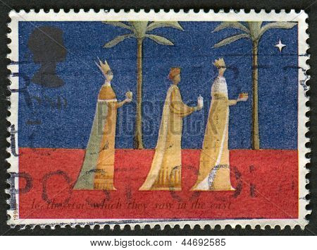 UK - CIRCA 1996: A stamp printed in UK shows image of The Magi, also referred to as the (Three) Wise Men, (Three) Kings, or Kings from the East, circa 1996.