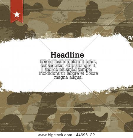 Camouflage background with space for text. Vector, EPS10