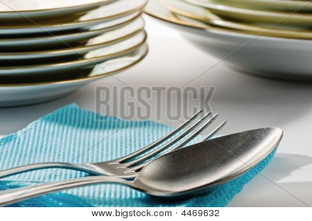 Silver Spoon And Fork