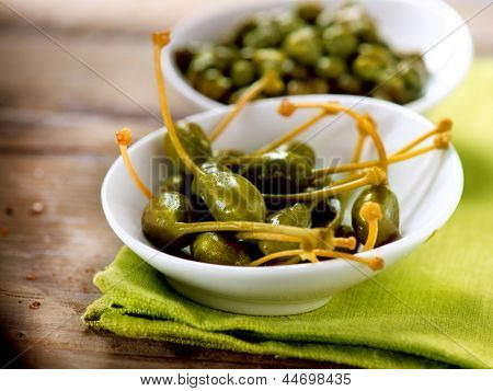 Capers. Caperberry