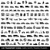 pic of transportation icons  - 120 Transport icons - JPG