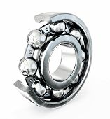picture of ball bearing  - Ball bearing isolated on a white background - JPG