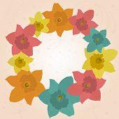 image of jonquils  - Beautiful spring frame with jonquils - JPG