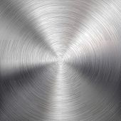 Metal Background with Circular Brushed Texture