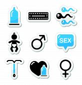 stock photo of gay symbol  - Protection against pregnancy - JPG