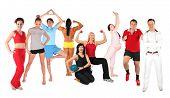 Постер, плакат: Спортивные люди группы коллаж