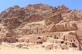 stock photo of petra jordan  - The ancient city of Petra in Jordan - JPG