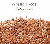 stock photo of flaxseeds  - Linseed - JPG