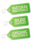 stock photo of non-toxic  - Made With Natural Pure Materials labels collection - JPG