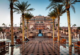 stock photo of billion  - Emirates palace is one of the most expensive hotel in Arab Emirates build at the cost of  - JPG