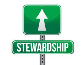 image of stewardship  - stewardship road sign illustration design over a white background - JPG