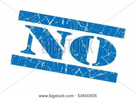 No Blue Grunge Stamp