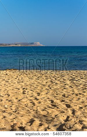 Wonderful sandy beach of Protaras on Cyprus island