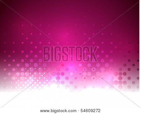 Vector abstract shiny purple bokeh lights background template