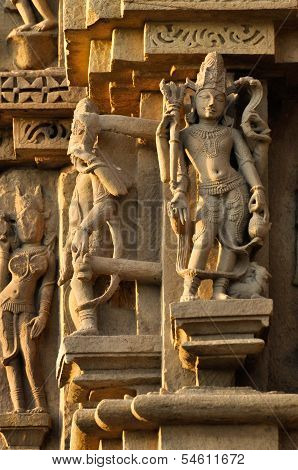 Human Sculptures Of Eastern Temple, Khajuraho, India, Unesco Site.