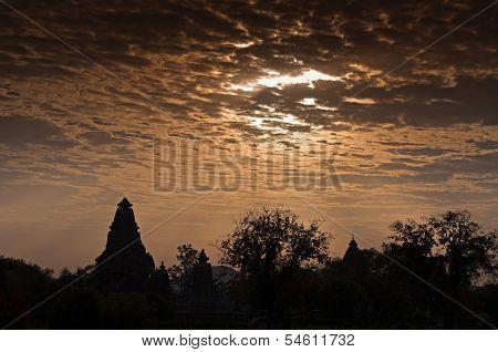 Western Temples Of Khajuraho, At Dawn, India - Unesco Site.