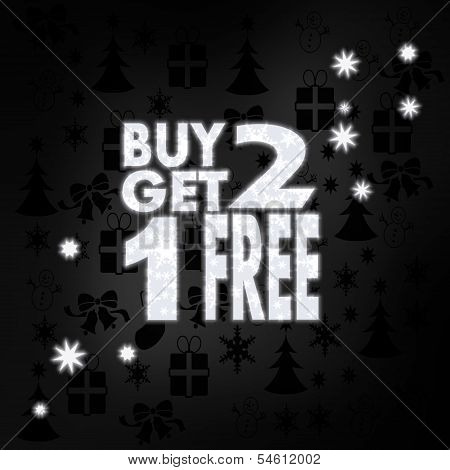 Noble Buy Two Get One Free Label With Stars