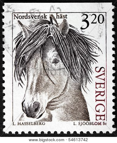 Swedish Horse Stamp