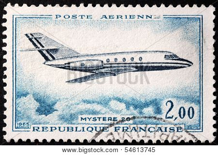 French Airplane Stamp