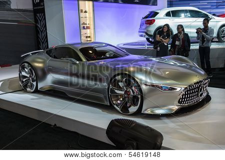 Mercedes-benz Amg Vision Gran Turismo Car On Display At The La Auto Show.