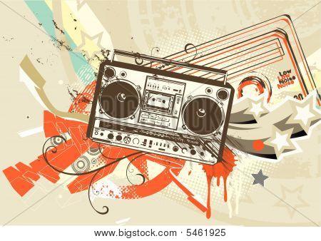 Grunge styled urban background