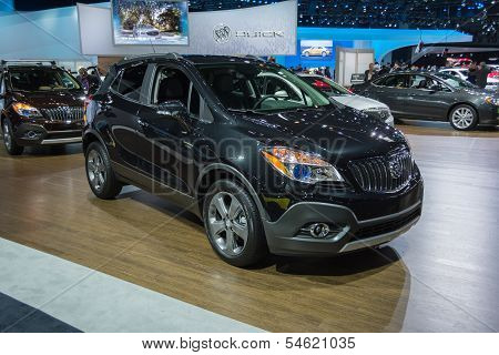 Buick Enclave Suv Car On Display At The La Auto Show.