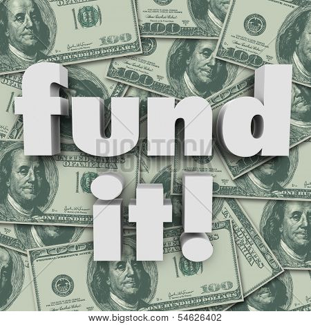 Fund It Money Background Financing Funding