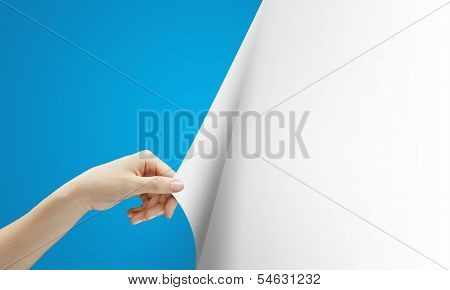Hand Turns Blue Page