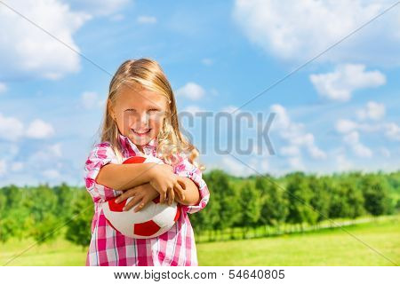 Smiling Boy With Ball