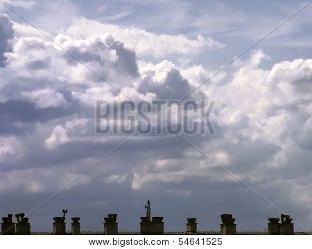 Cumulus harsh sky