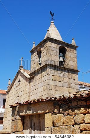 Stone Bell Tower With Weathercock