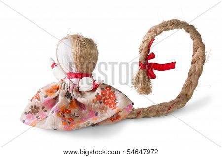 Russian Traditional Rag Doll With Tress