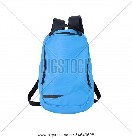 Blue Backpack Isolated With Path