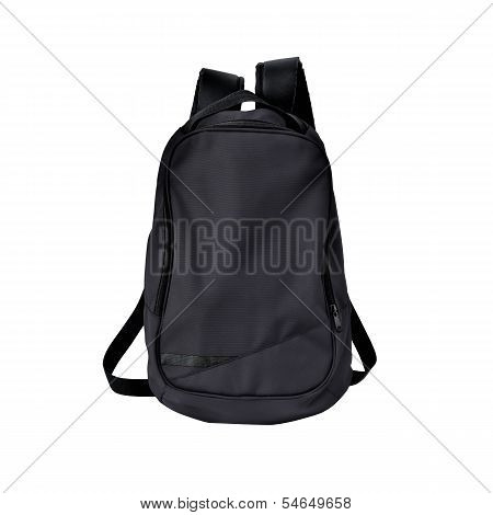 Black Backpack Isolated With Path