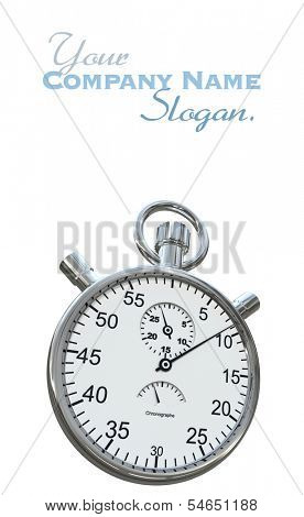 3D rendering of a silver chronometer on a white background