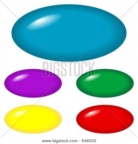 Buttons - Oval
