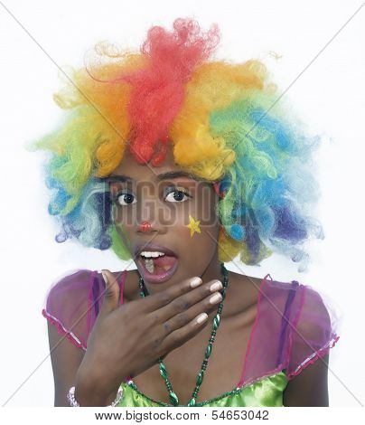 Cheerful Female Clown