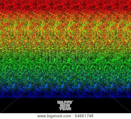 Happy New Year - stereogram