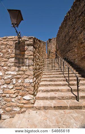 Stairs next to the Mudejar tower