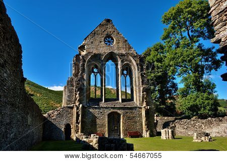 Valle Crucis Abbey at Llantysilio,Wales