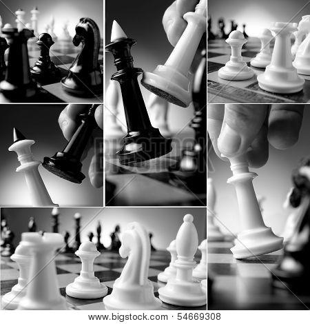 Conceptual Chess Collage