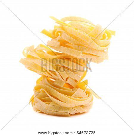 Tagliatelle paglia e fieno tipycal italian pasta