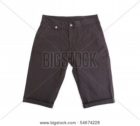 black breeches isolated on the white background