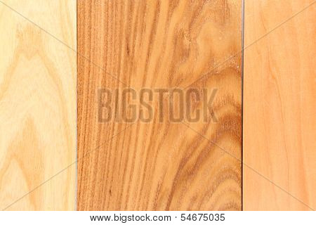 Three wooden plank. Background.