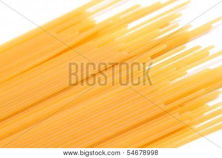 Spaghetti bias on the white background