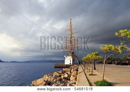 Luxury Sailfish Sea Cloud In Navarino Bay, Greece