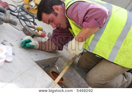 Workman On Site